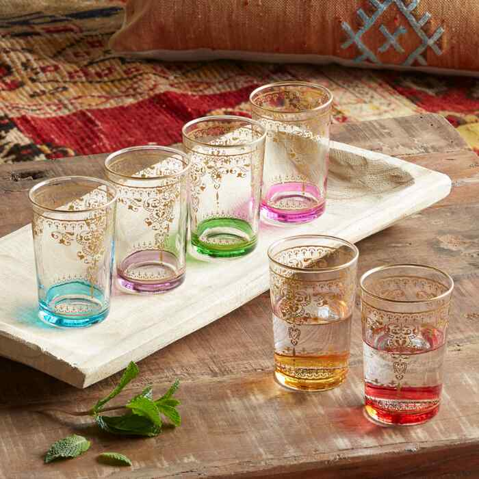 SUNRISE GLASSES, SET OF 6