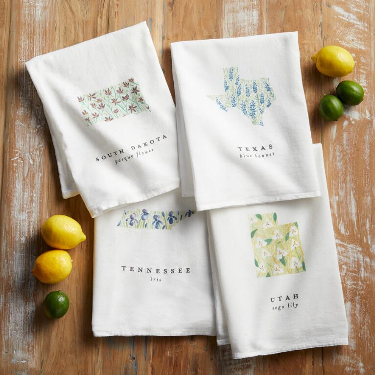 STATE FLOWER TEA TOWEL