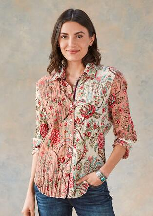 HEIRLOOM FLORAL BLOUSE