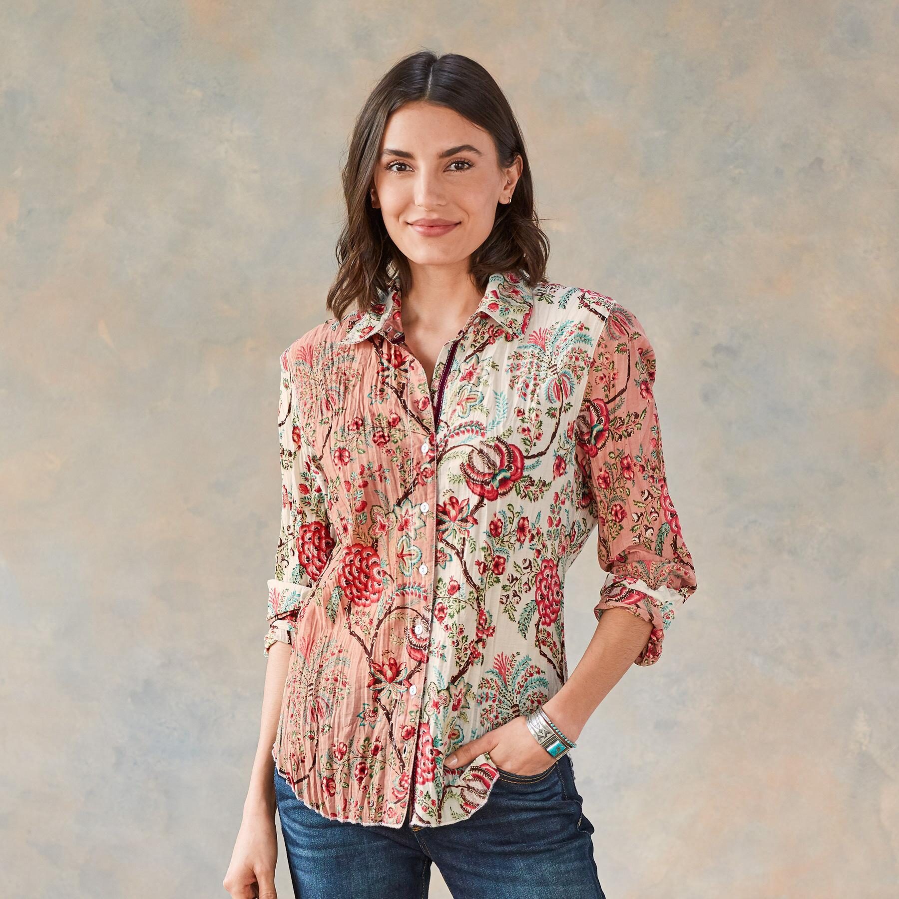 HEIRLOOM FLORAL BLOUSE: View 1
