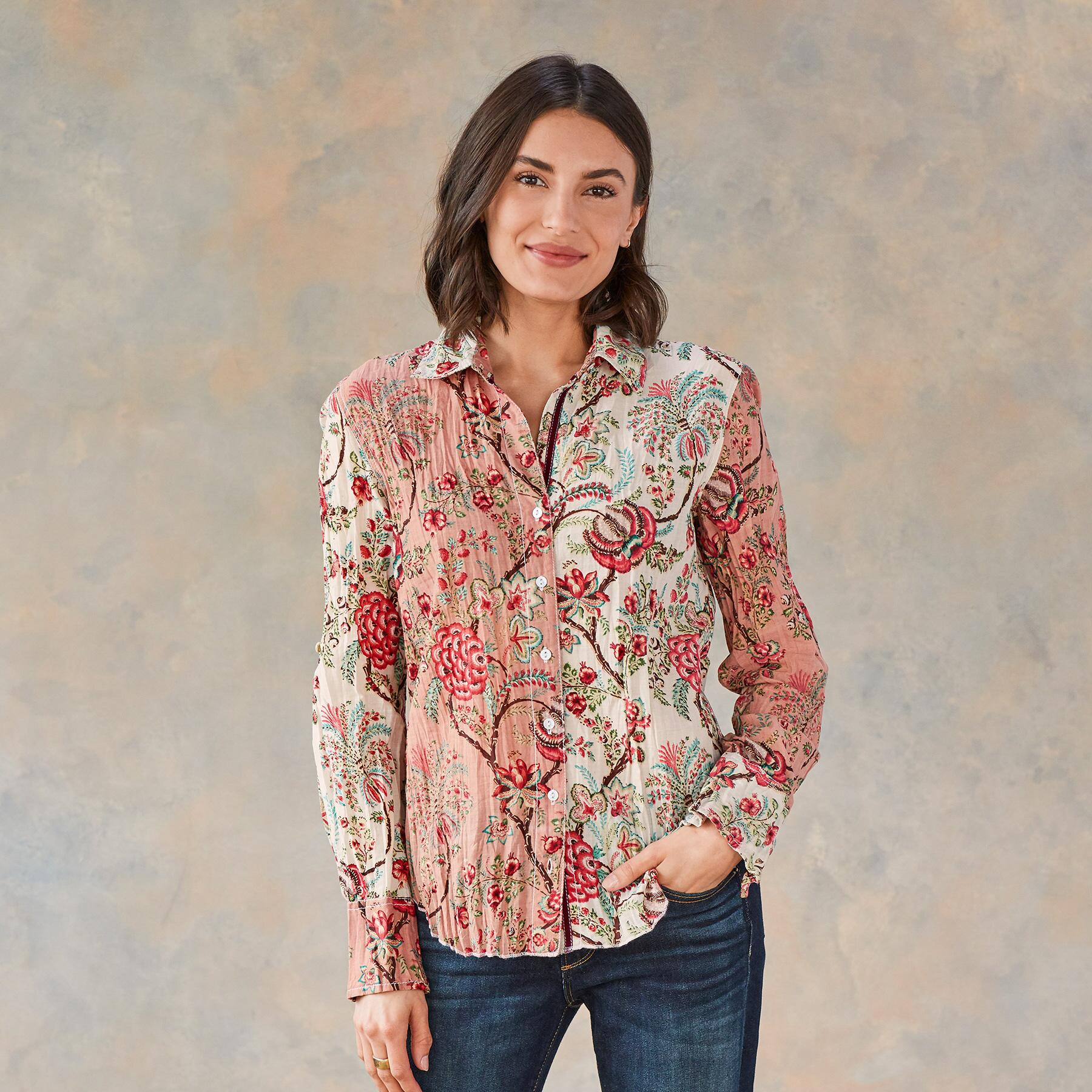HEIRLOOM FLORAL BLOUSE: View 2