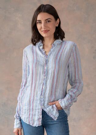 ROMY STRIPED BLOUSE