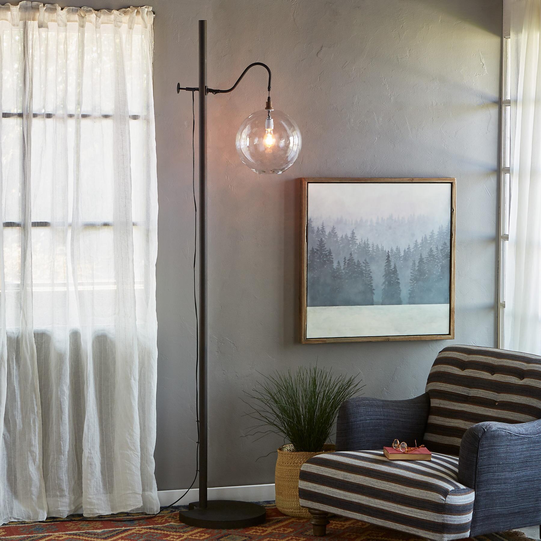 SALON GLASS FLOOR LAMP: View 1