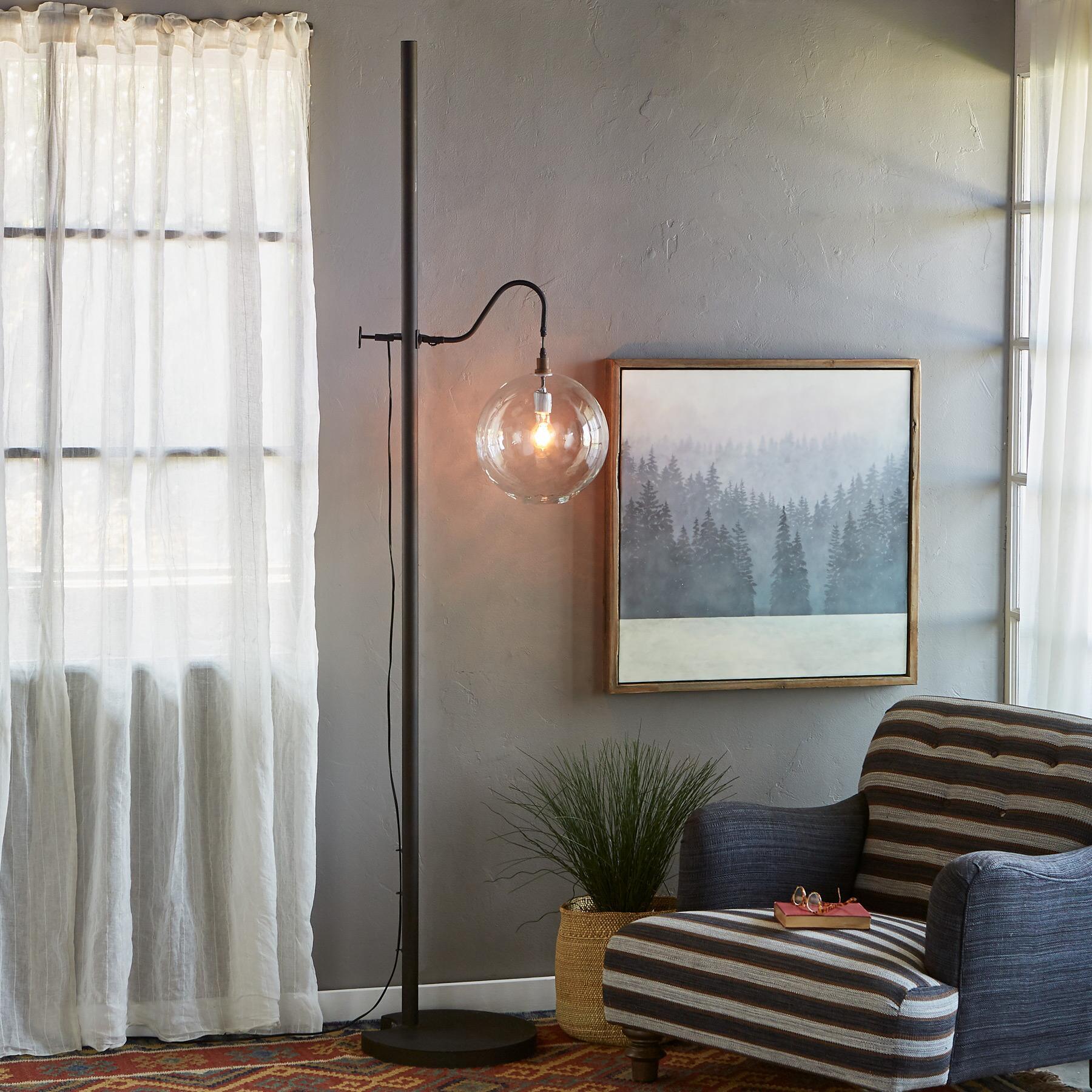 SALON GLASS FLOOR LAMP: View 2