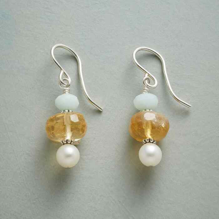 SUNLIT SEAFOAM EARRINGS