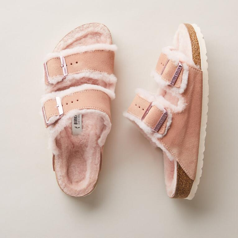 ARIZONA SHEARLING SANDALS