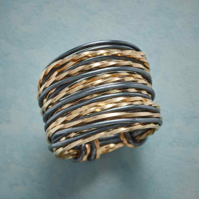 GATHERED STACK RING