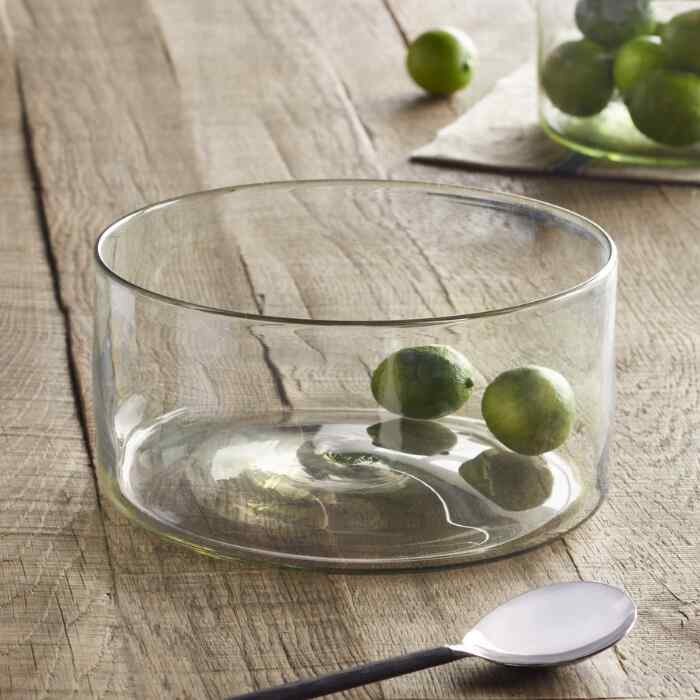 GLASS SALAD BOWL