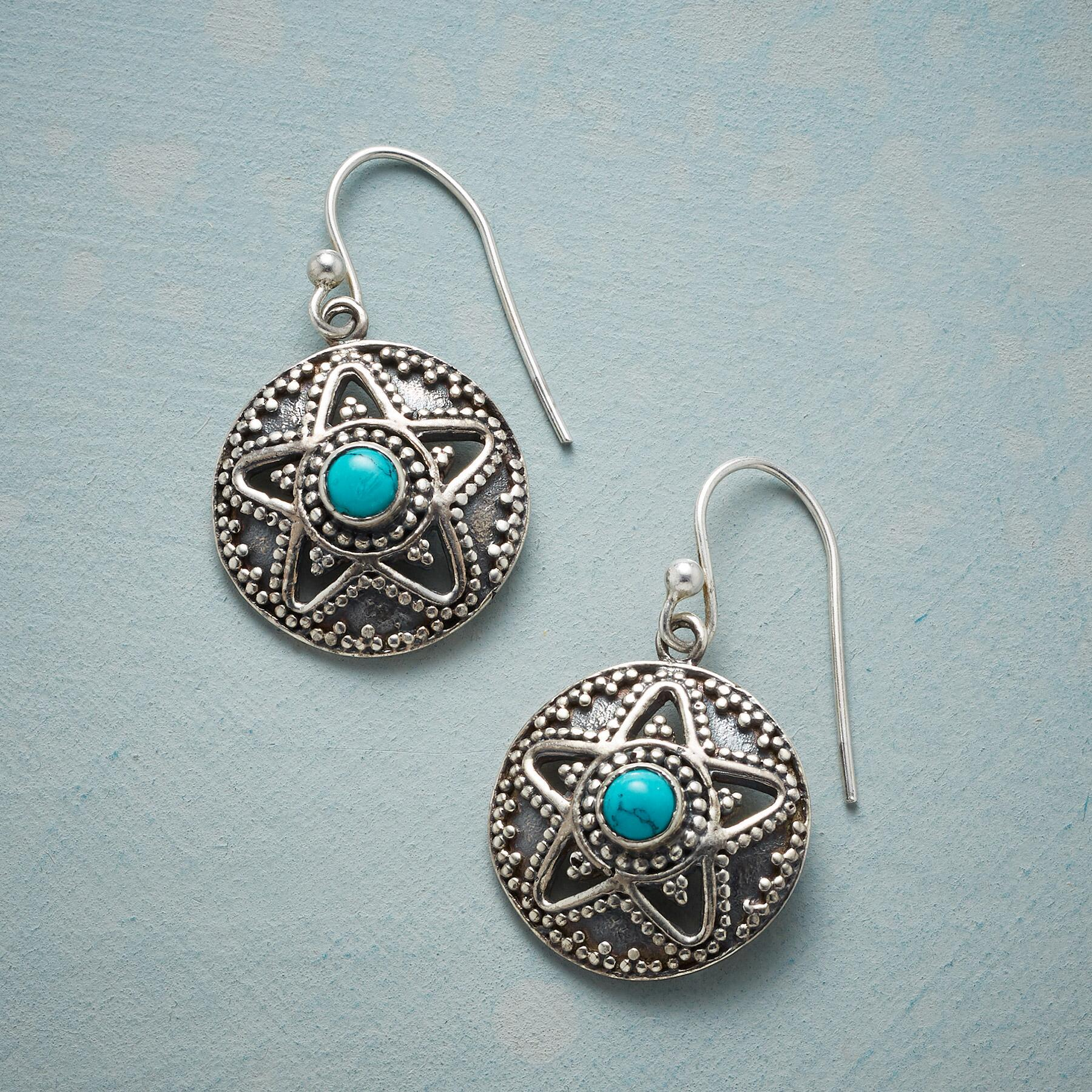 SUPERSTAR TURQUOISE EARRINGS: View 1