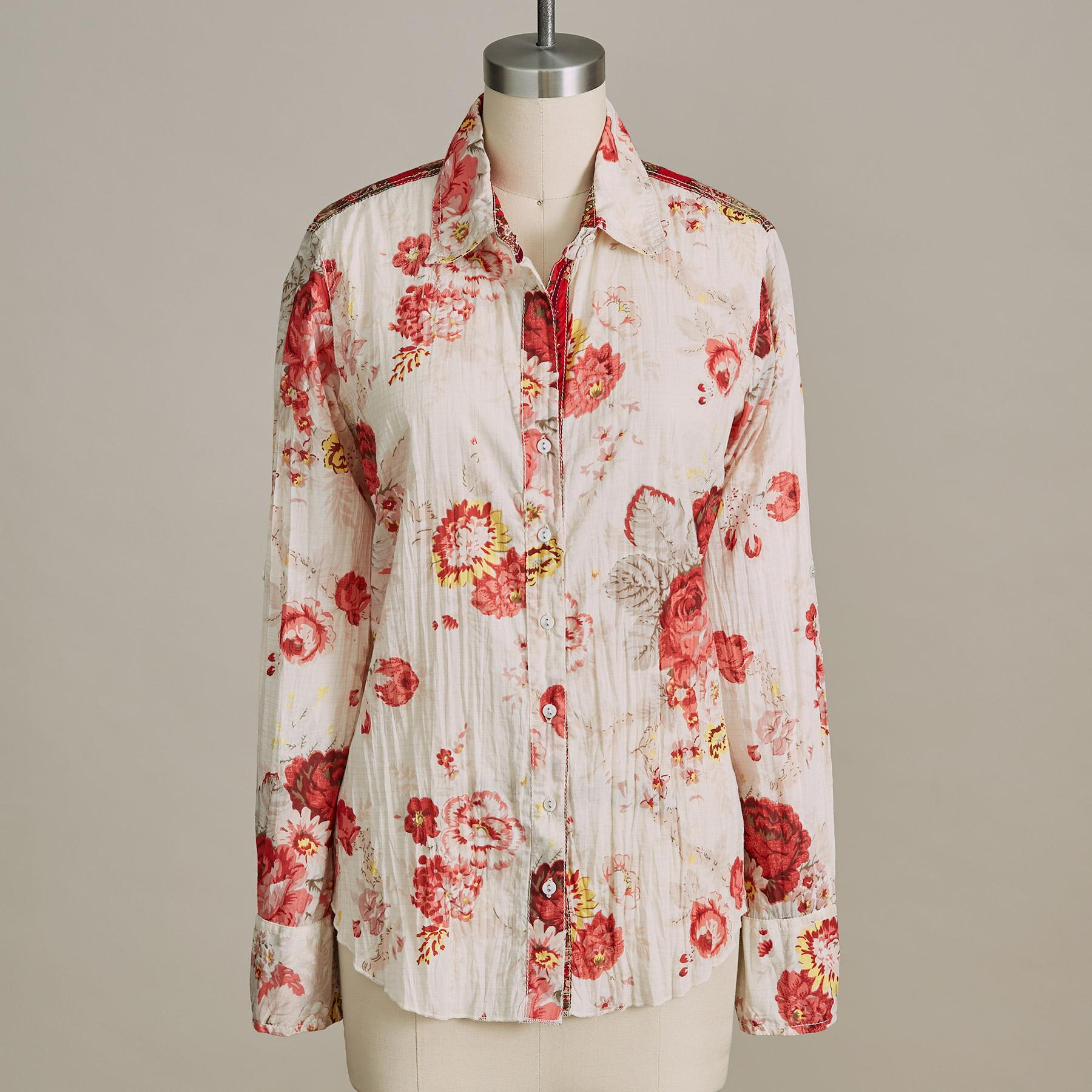 WASHED ROSES SHIRT: View 2