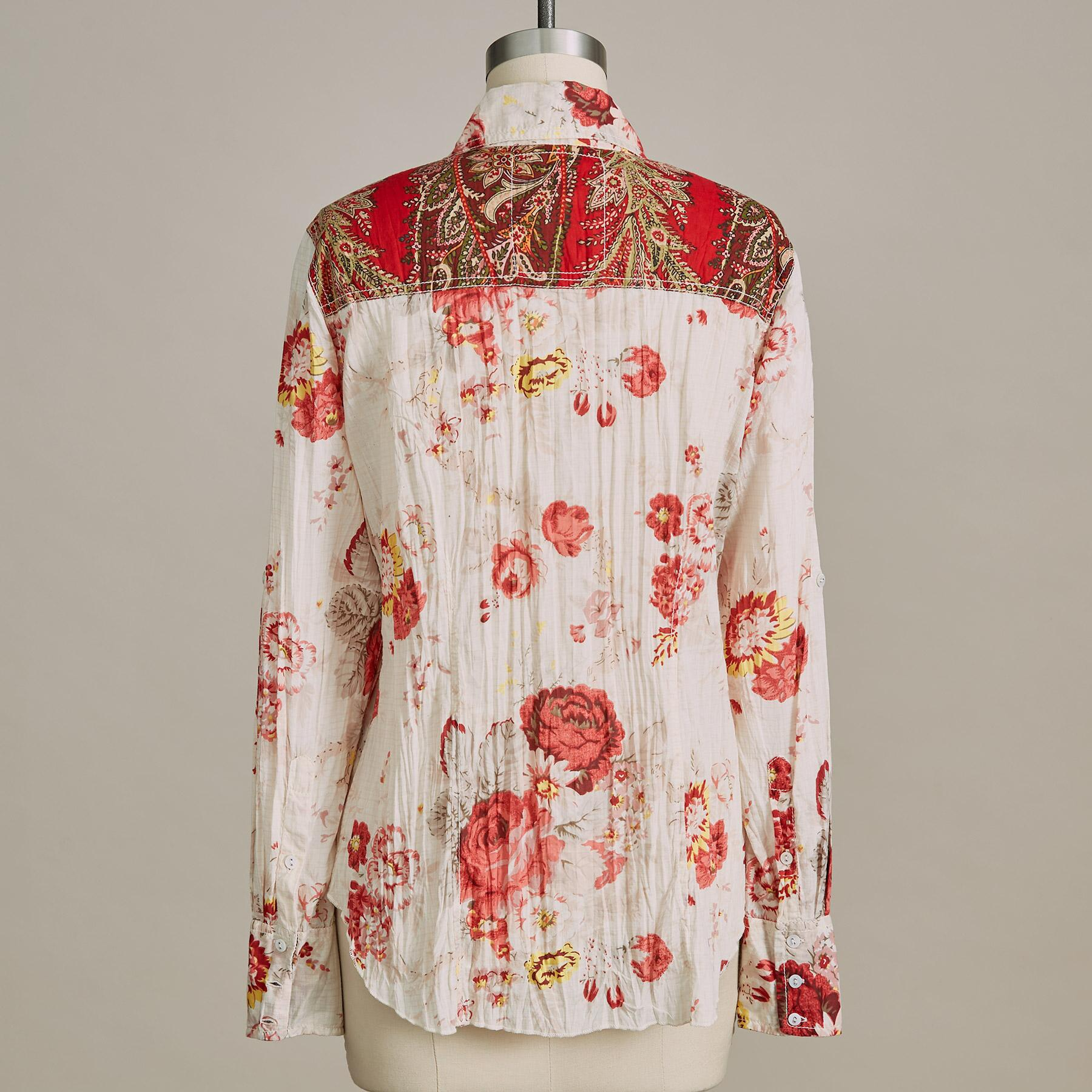 WASHED ROSES SHIRT: View 3