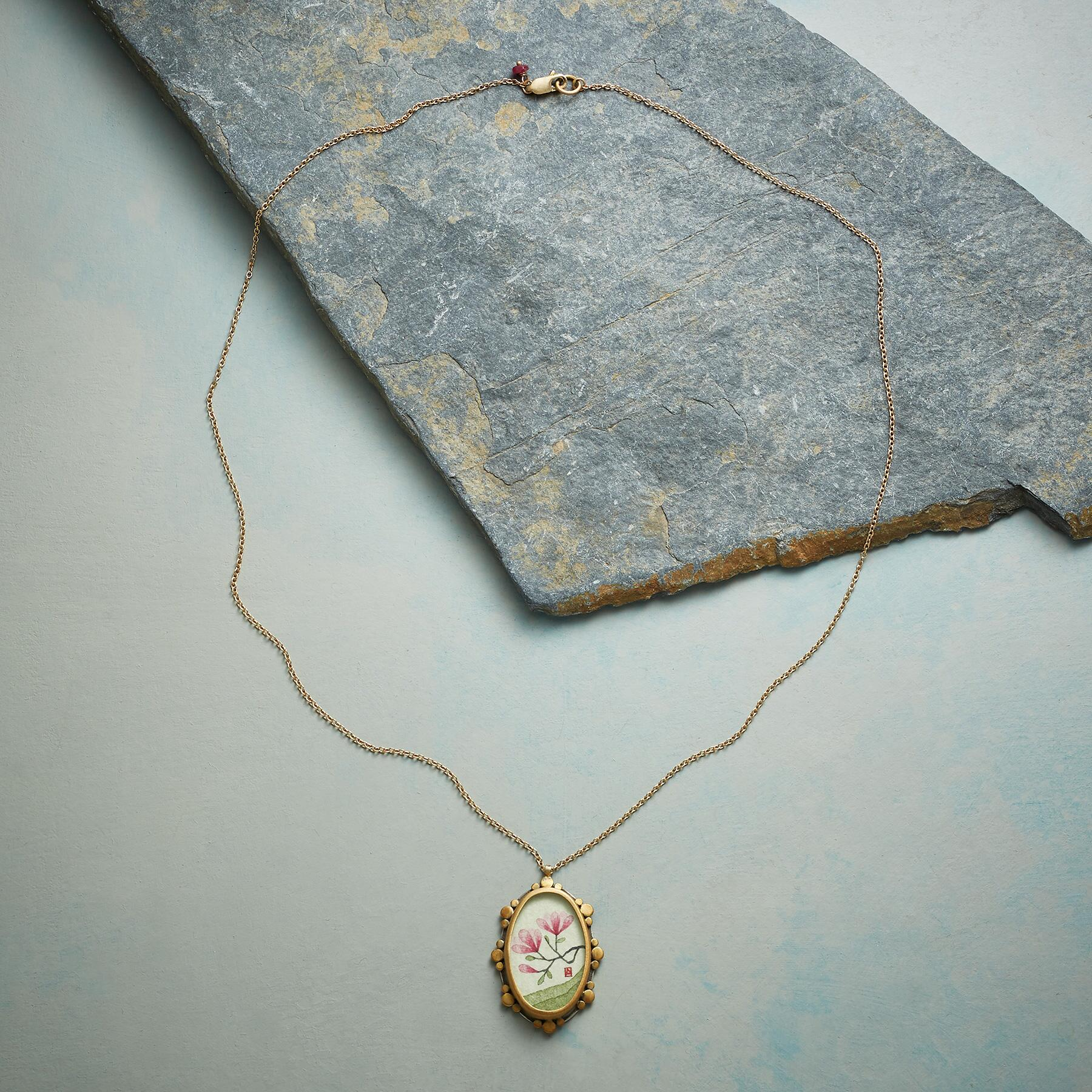MAGNOLIA SOLITAIRE NECKLACE: View 2