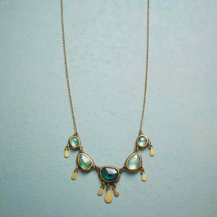 OMBRE GREEN TOURMALINE NECKLACE