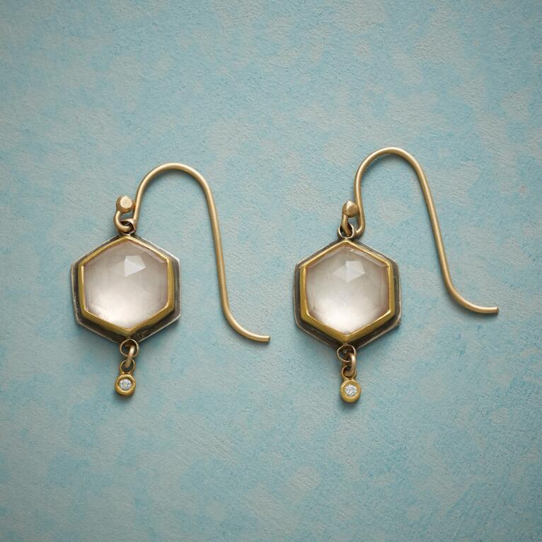 ROSE QUARTZ AND DIAMOND EARRINGS