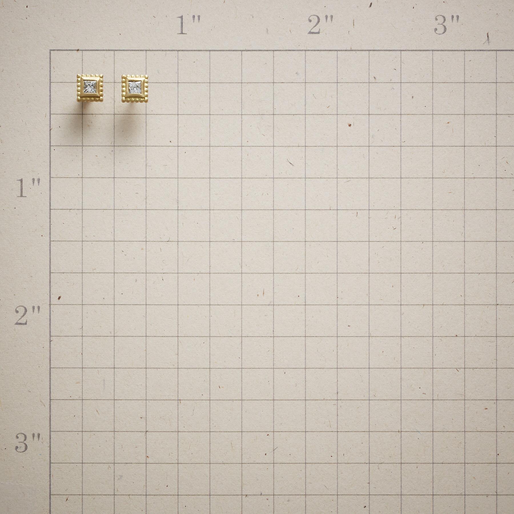 PRINCESS DIAMOND EARRINGS: View 2