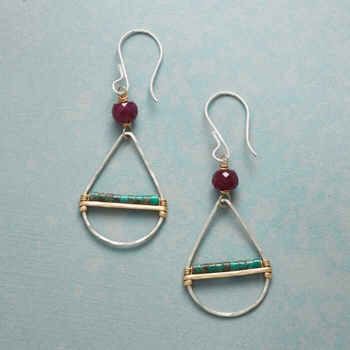 RUBY & TURQUOISE EARRINGS