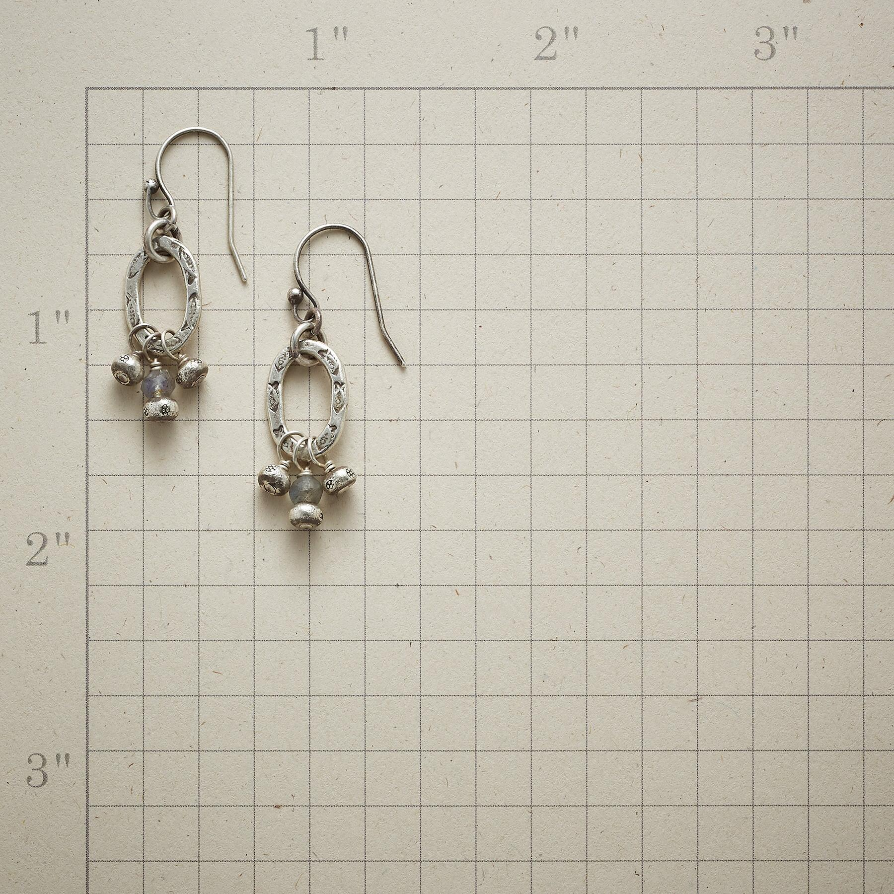 ONE LITTLE LABRADORITE EARRINGS: View 2
