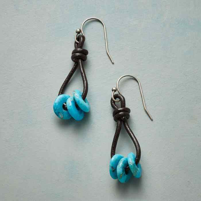 TURQUOISE RIATA EARRINGS