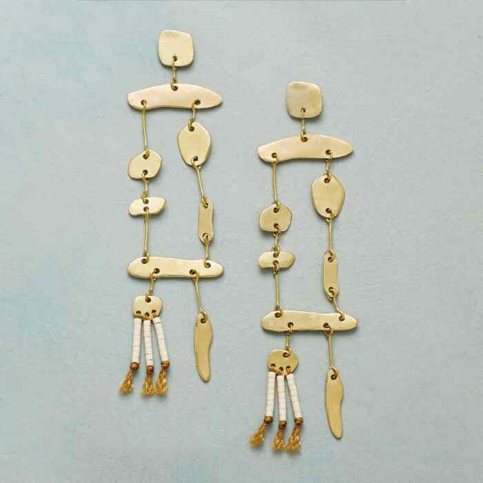 DANGLING DRIFTWOOD EARRINGS
