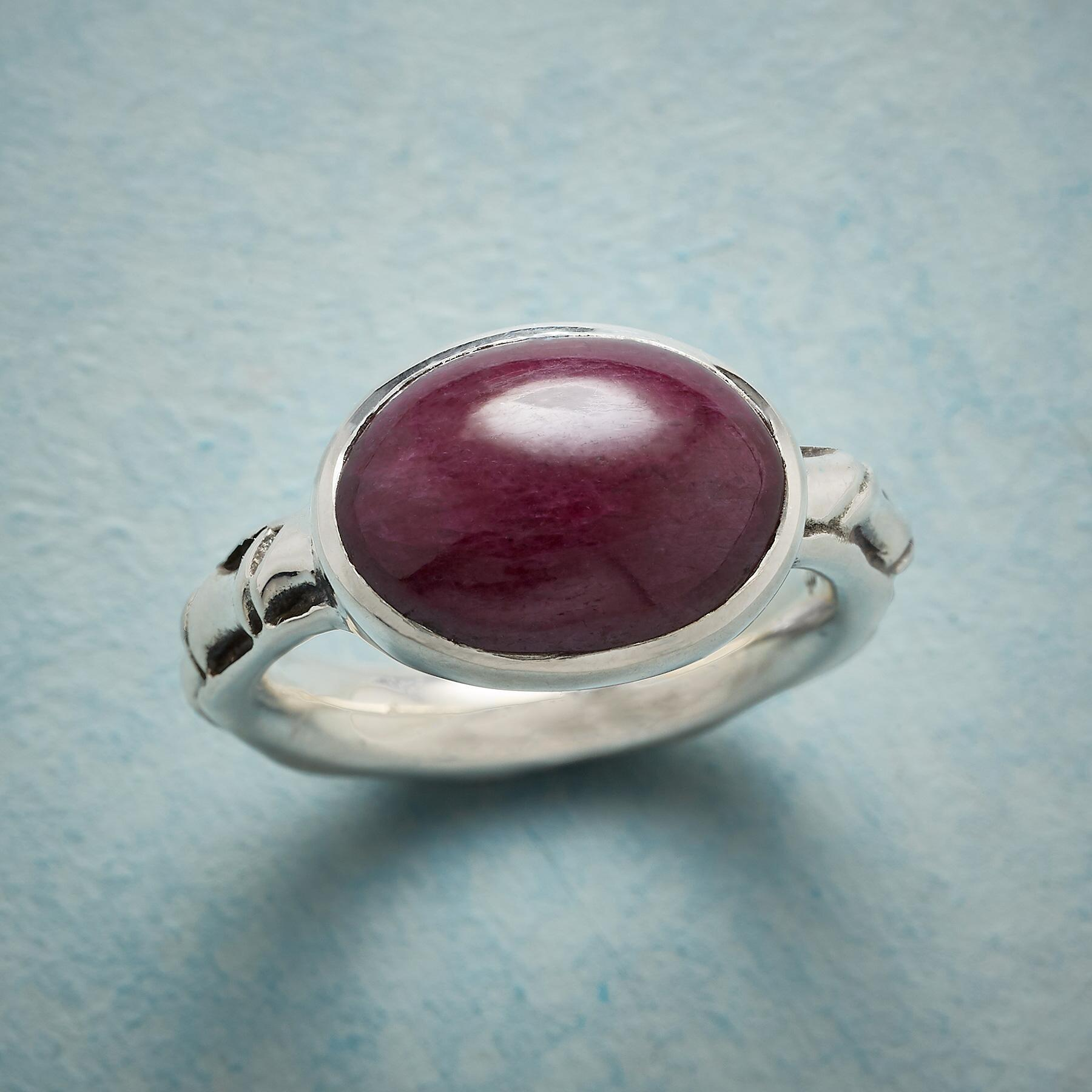 SPOOLED RUBY RING: View 1