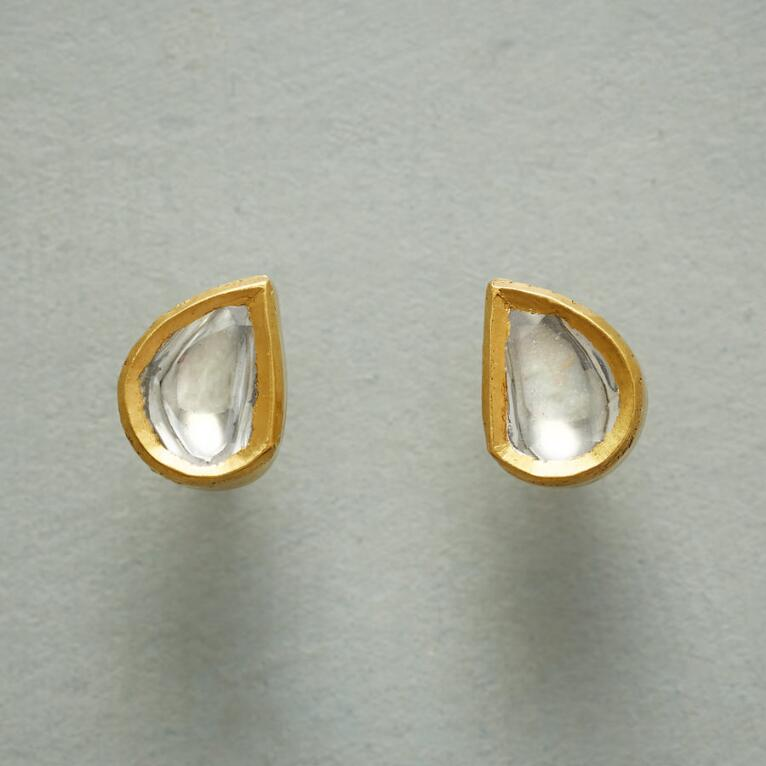 POLKI DIAMOND DEWDROP EARRINGS