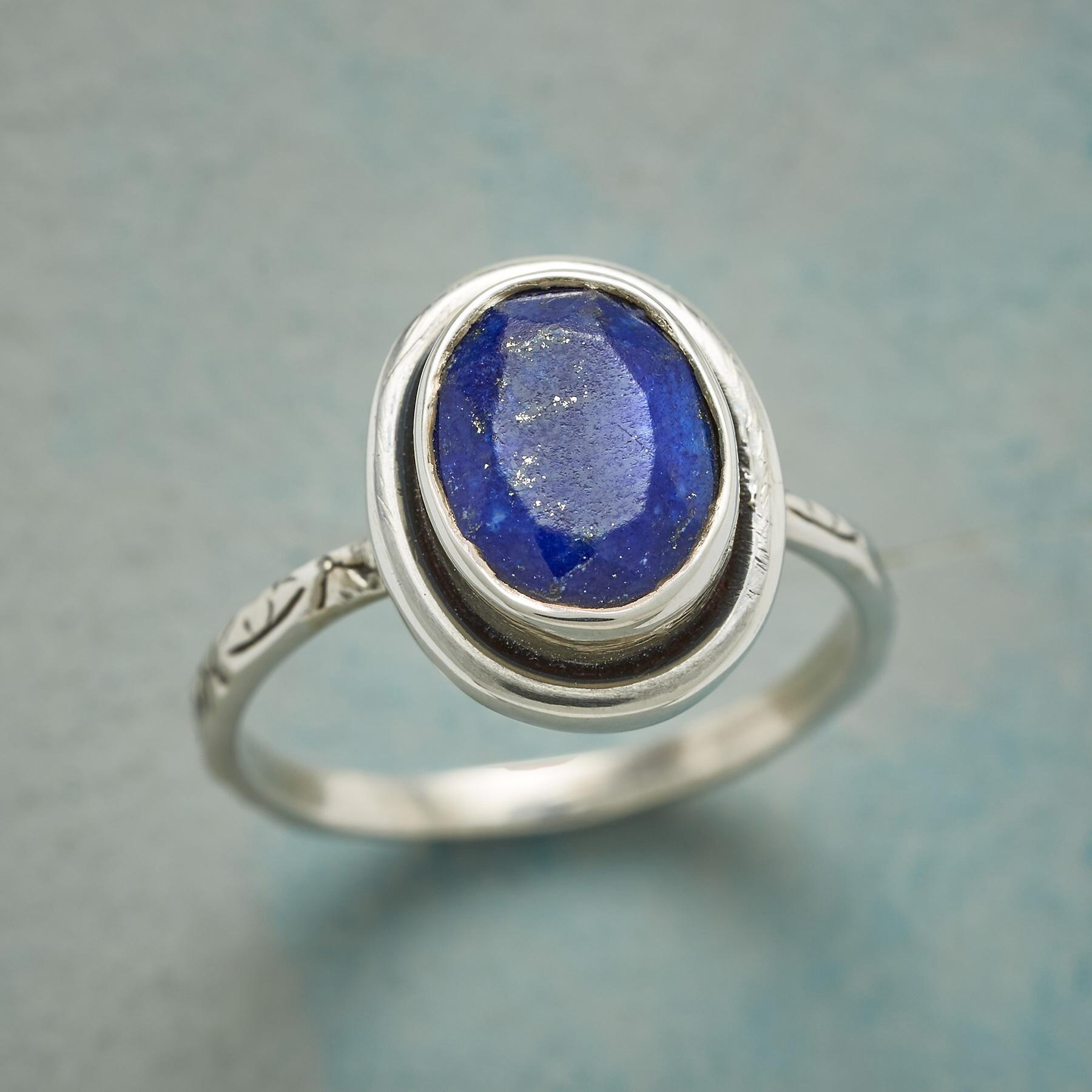 OUTLINED INDIGO RING: View 1