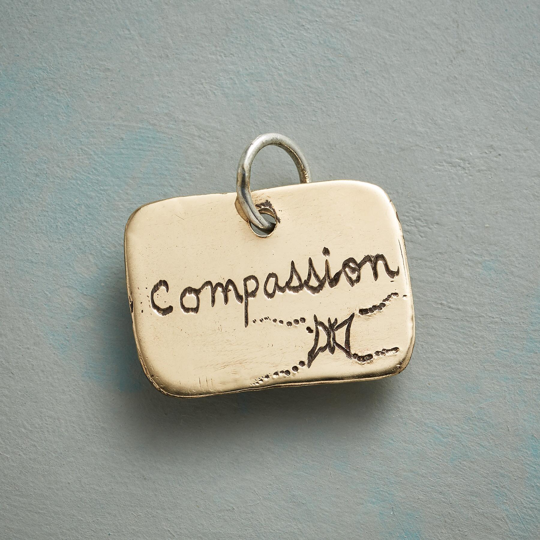 GOLD COMPASSION CHARM: View 2