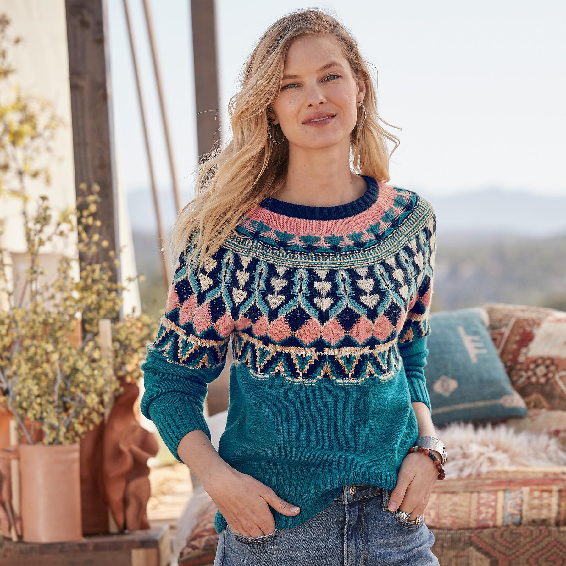 HARLOW FAIR ISLE SWEATER: View 1