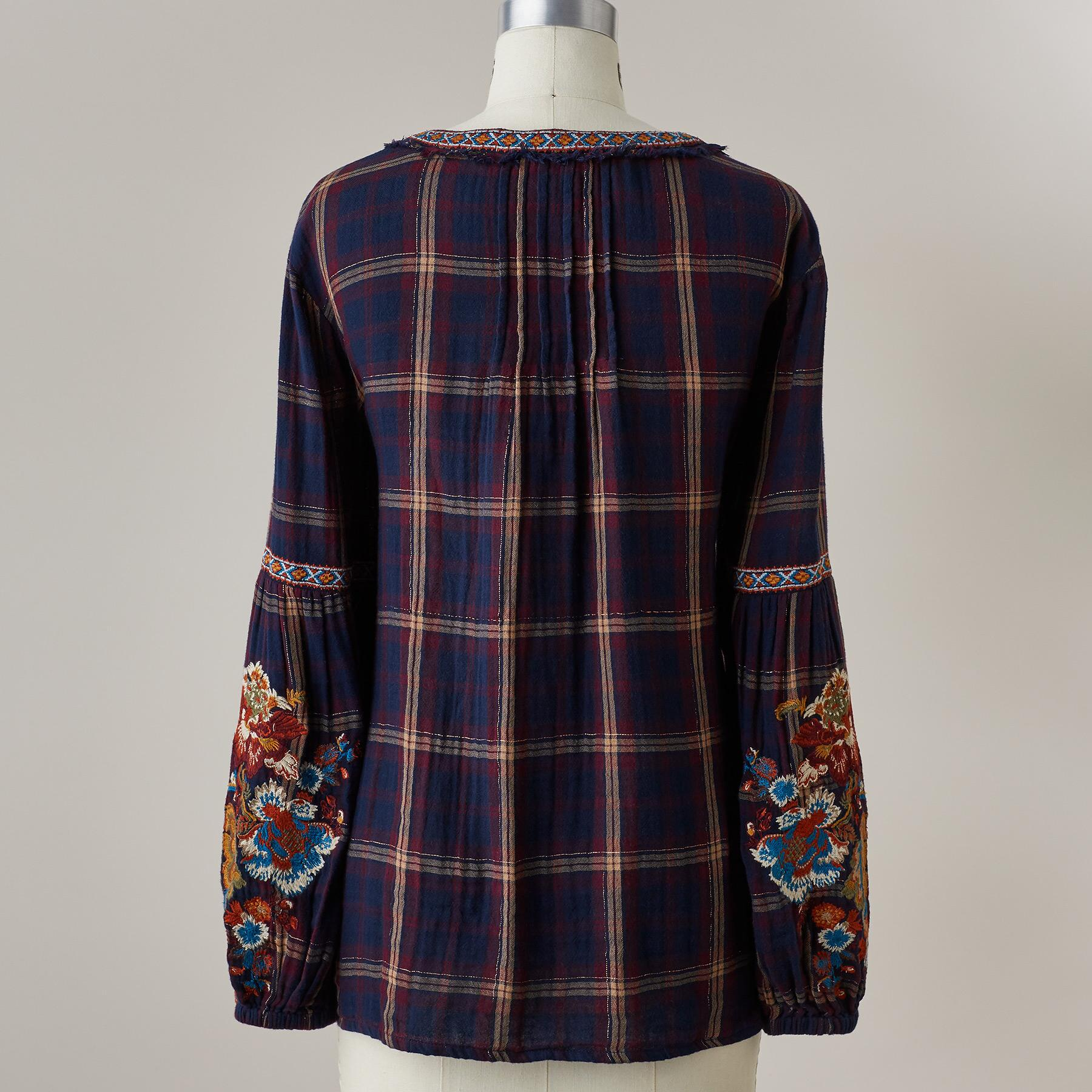 ZINNIA PLAID TOP PETITE: View 4