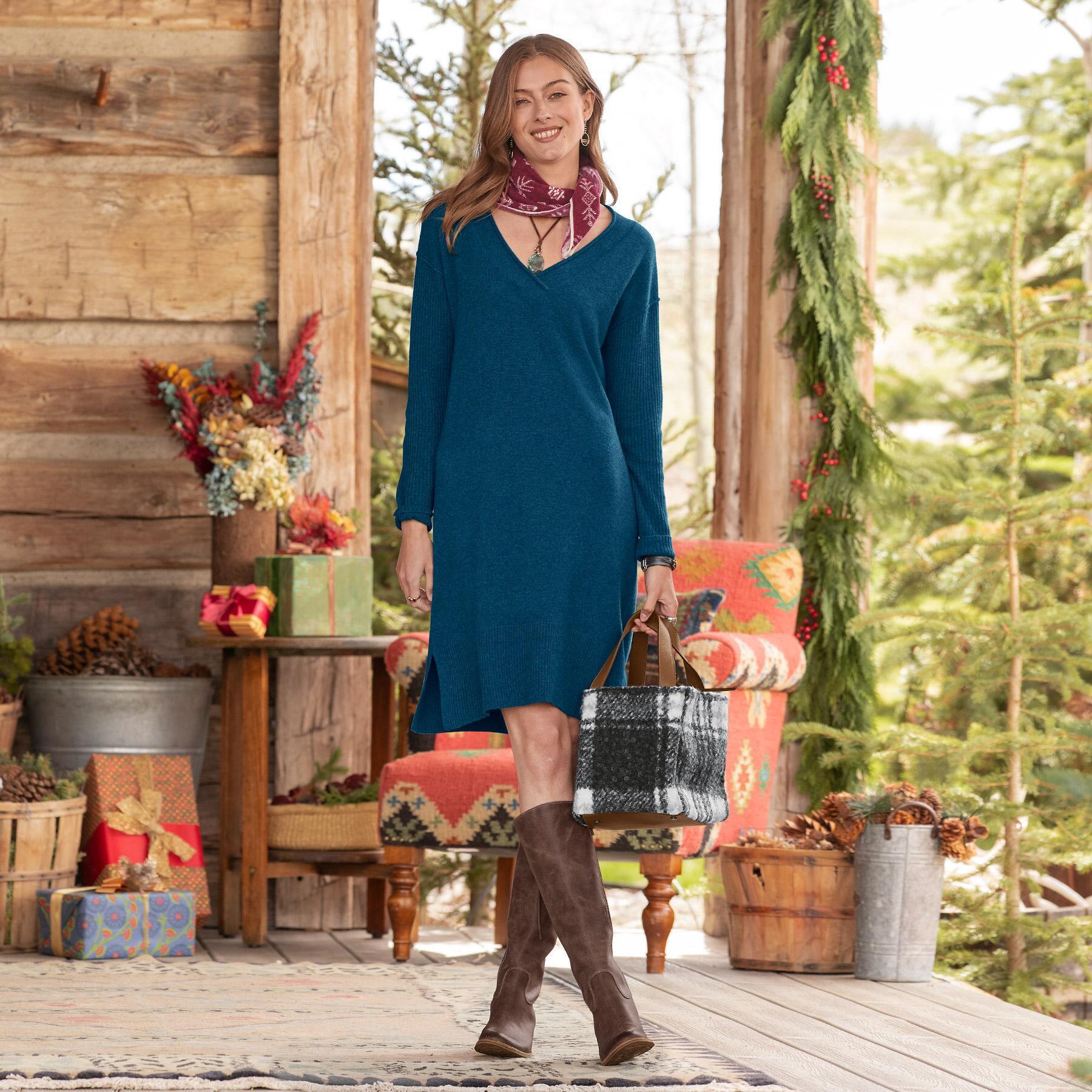 TILLIE CASHMERE DRESS: View 1