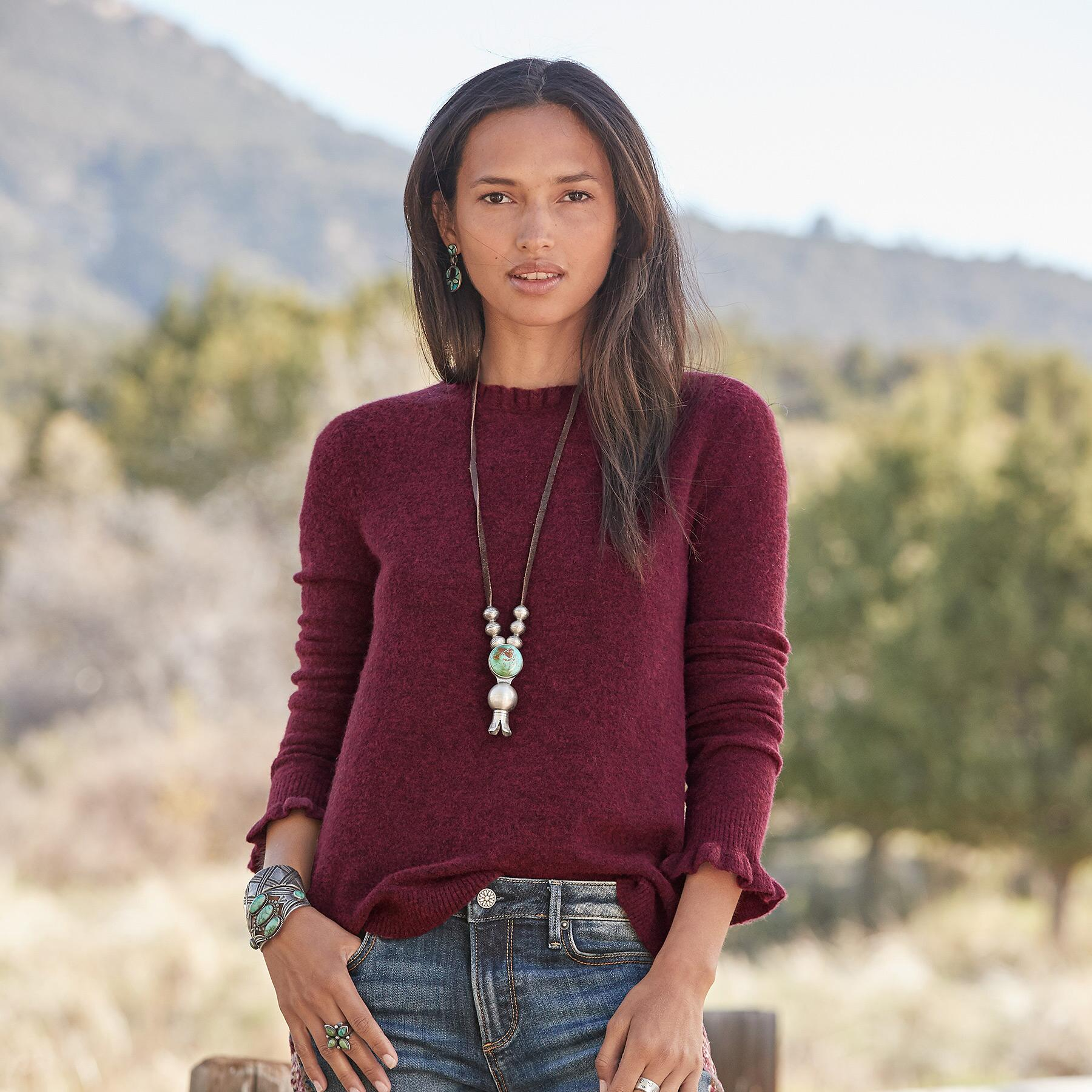 AILEEN RUFFLE PULLOVER - PETITES: View 1