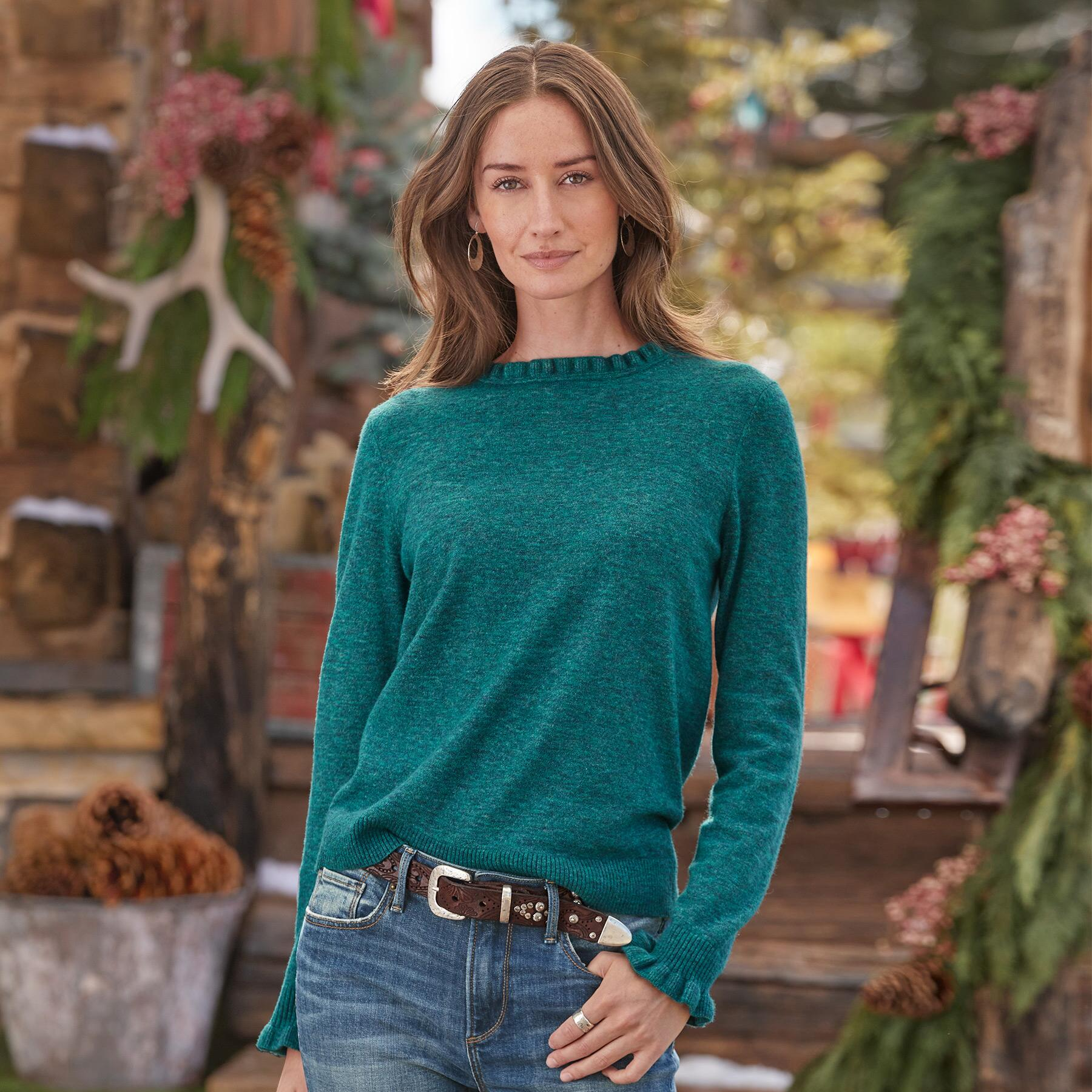 AILEEN RUFFLE PULLOVER - PETITES: View 2