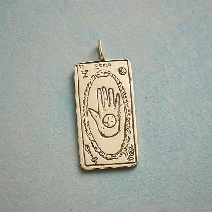 WORLD TAROT CARD PENDANT