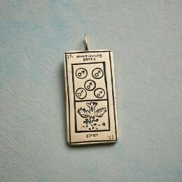 LOVERS TAROT CARD PENDANT