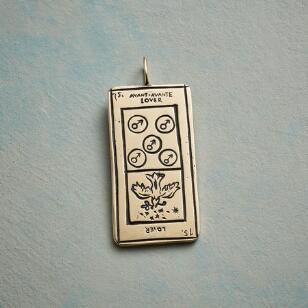 LOVERS TAROT CARD PENDANT