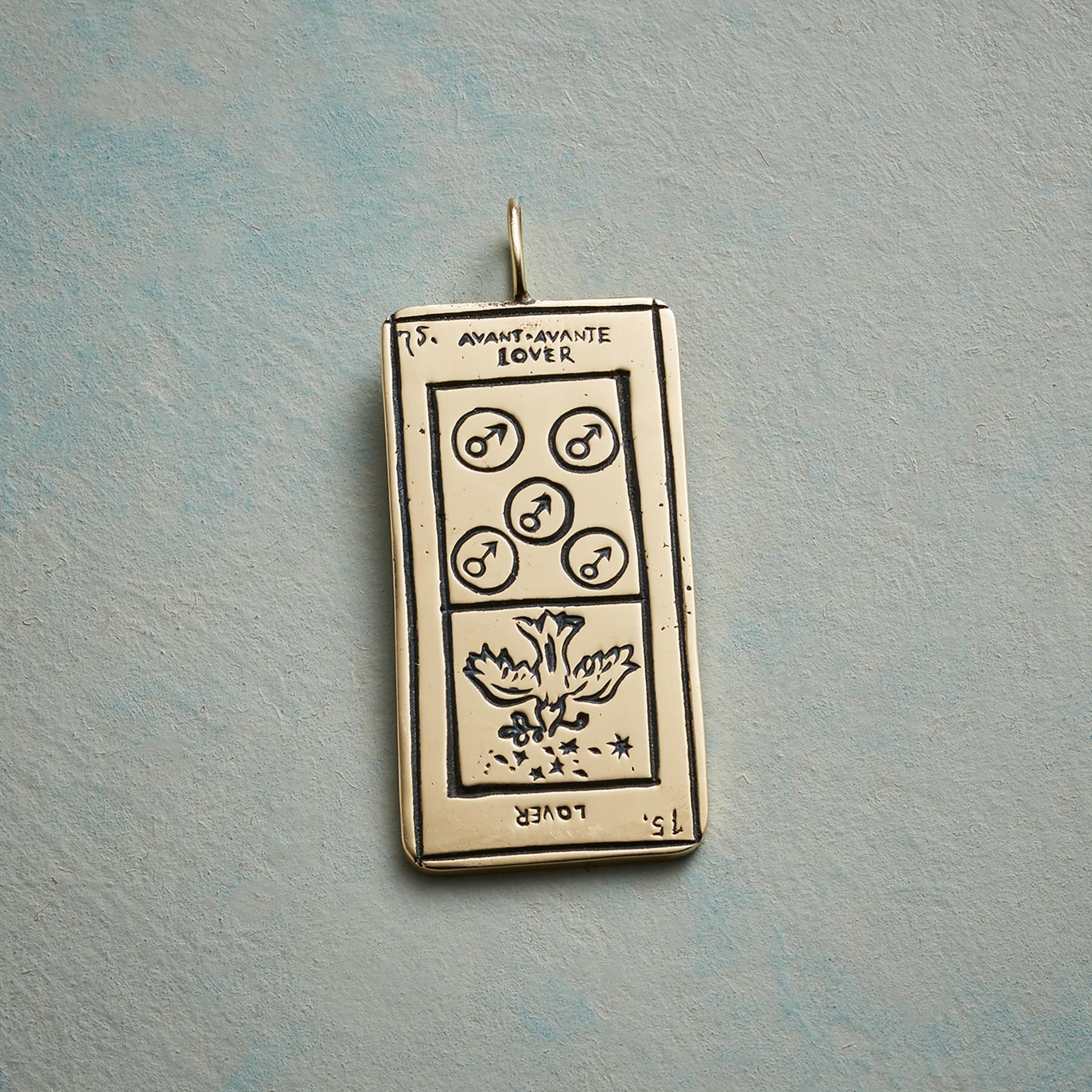 LOVERS TAROT CARD PENDANT: View 1