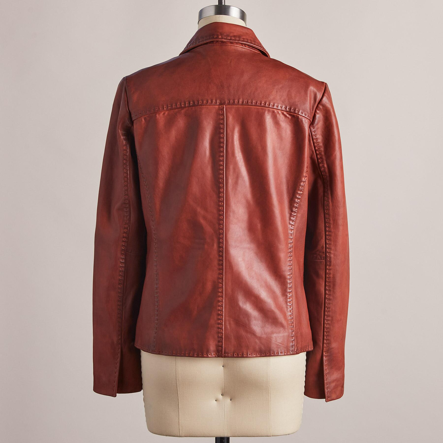 MCKENNA LEATHER BLAZER: View 5