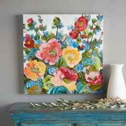 GARDEN FLOWERS PAINTING