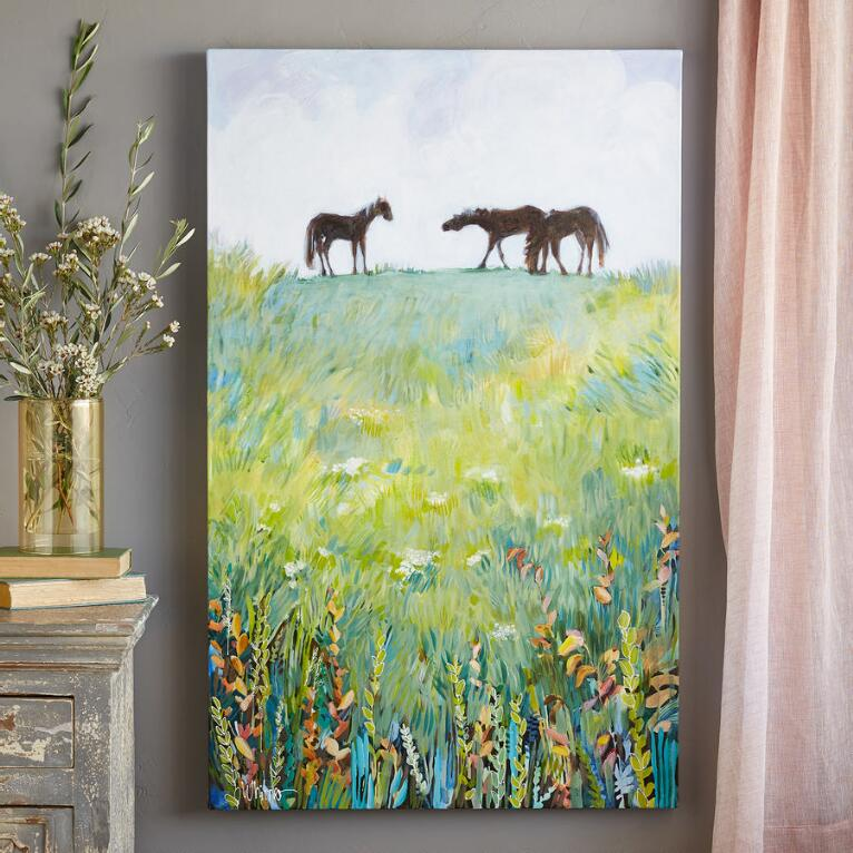 MEADOW GRAZING PAINTING