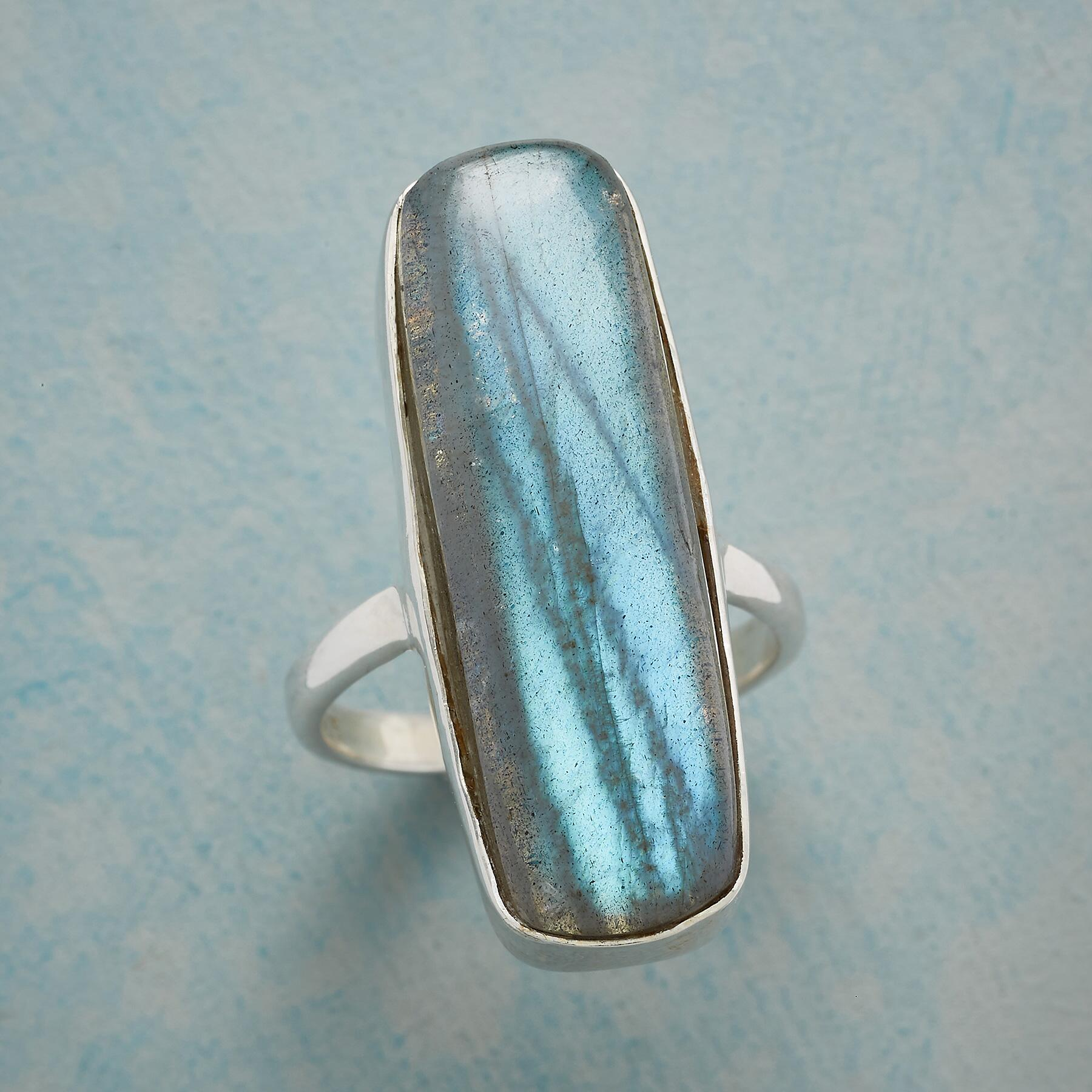 SO LONG LABRADORITE RING: View 1