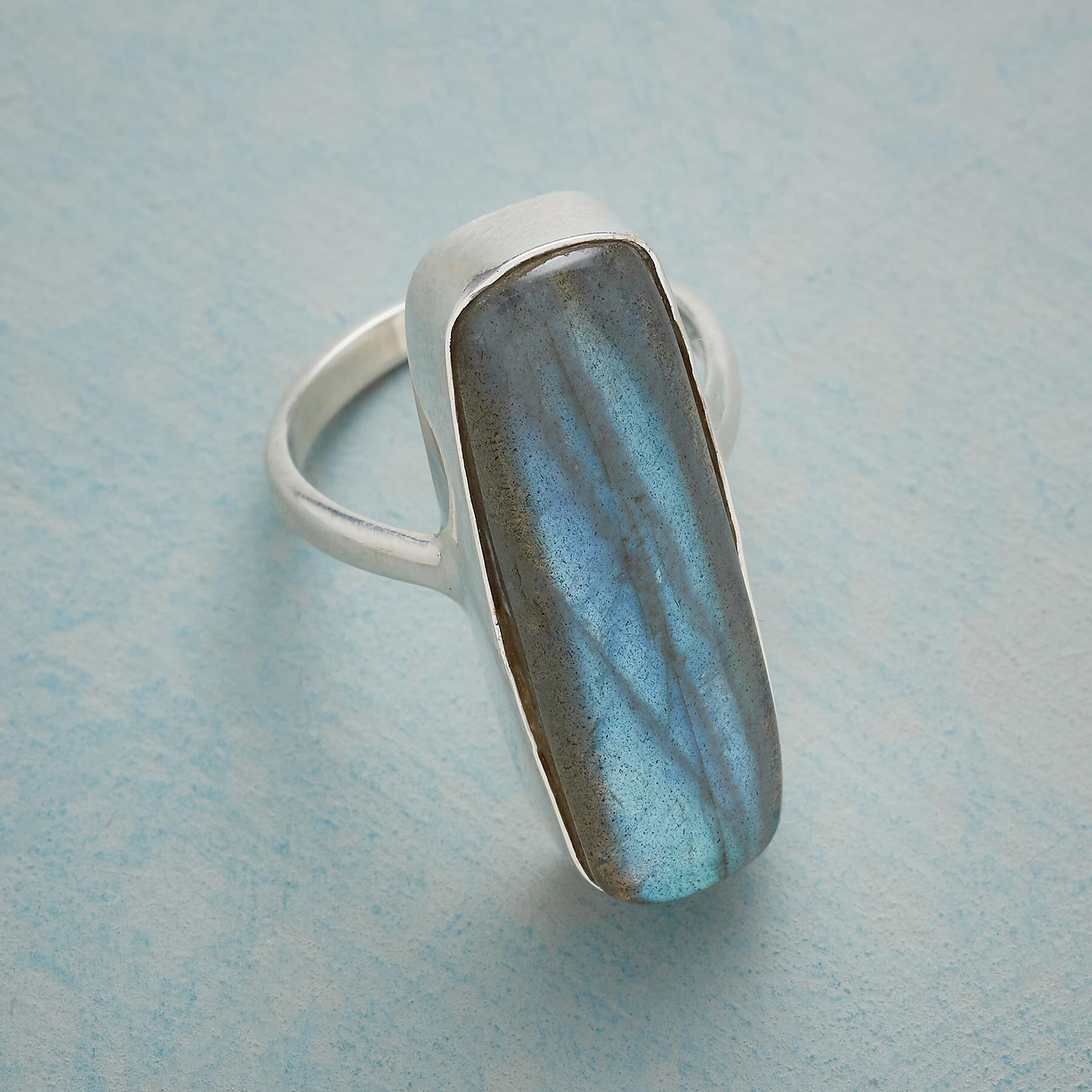 SO LONG LABRADORITE RING: View 2