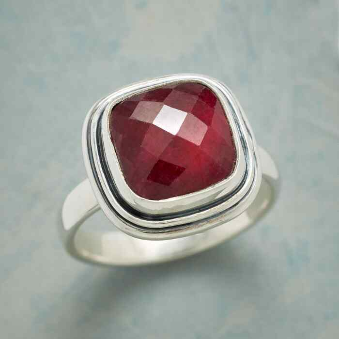 RUBY CUSHION RING