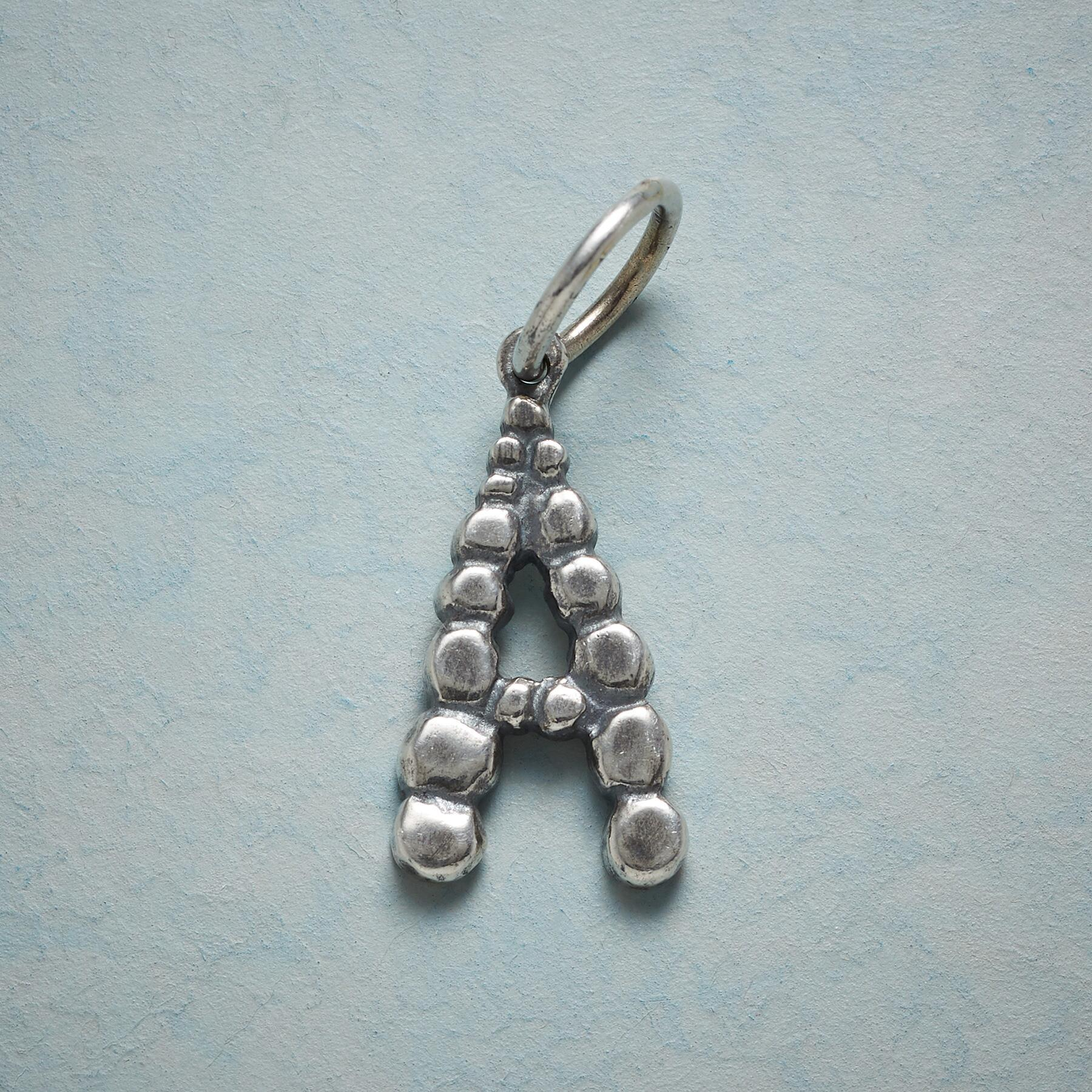 STERLING SILVER CONNECT THE DOTS LETTER CHARM: View 1