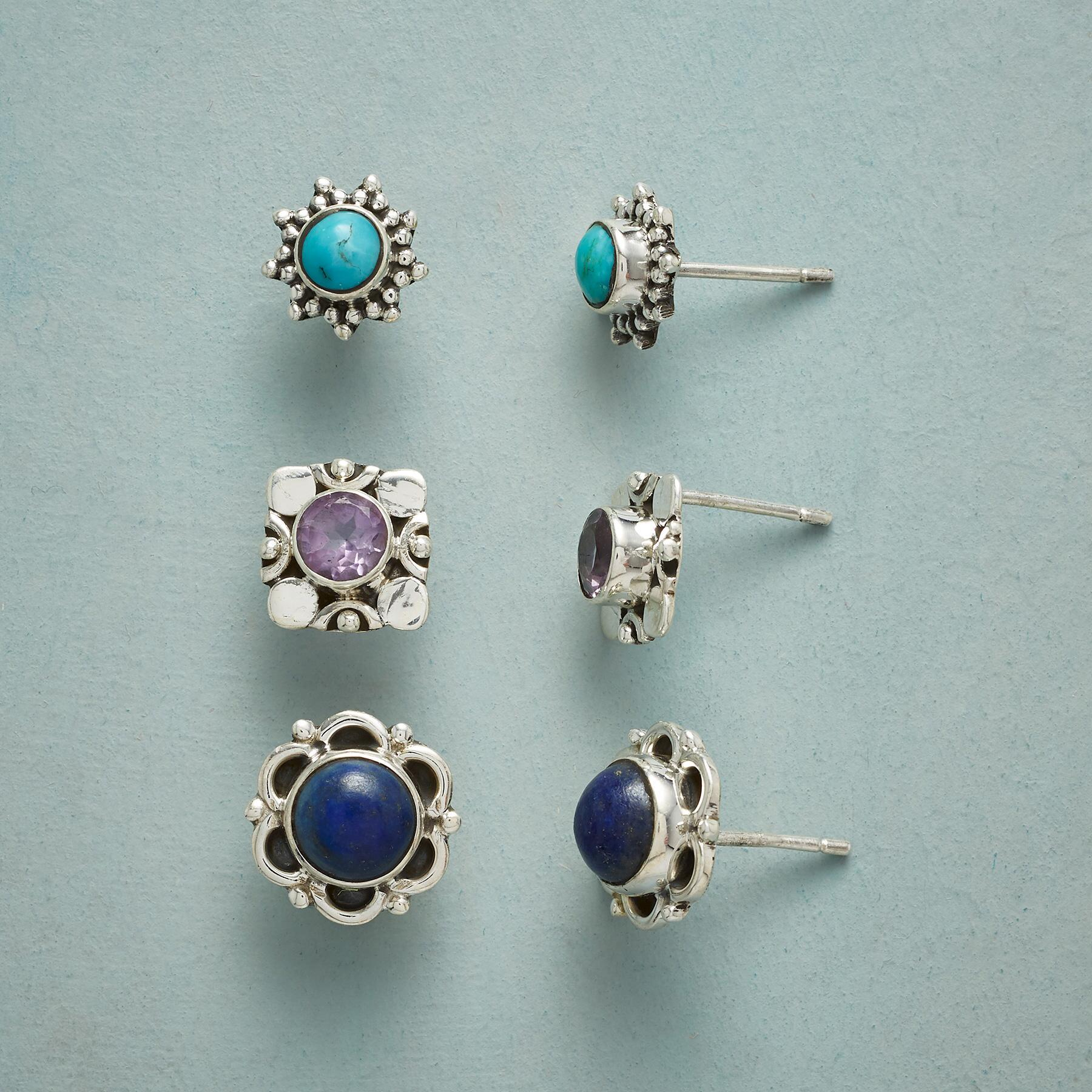 COLOR CODED EARRING TRIO: View 1