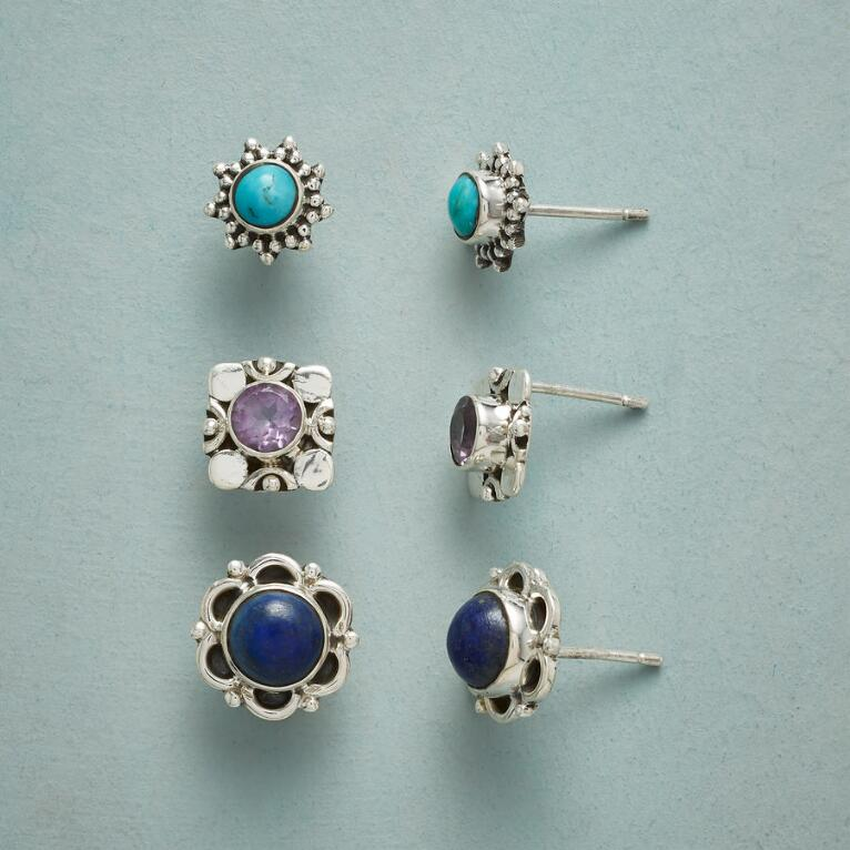 COLOR CODED EARRING TRIO