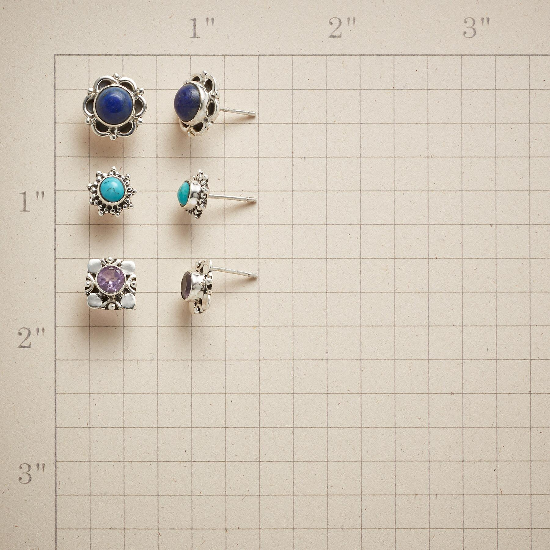 COLOR CODED EARRING TRIO: View 2