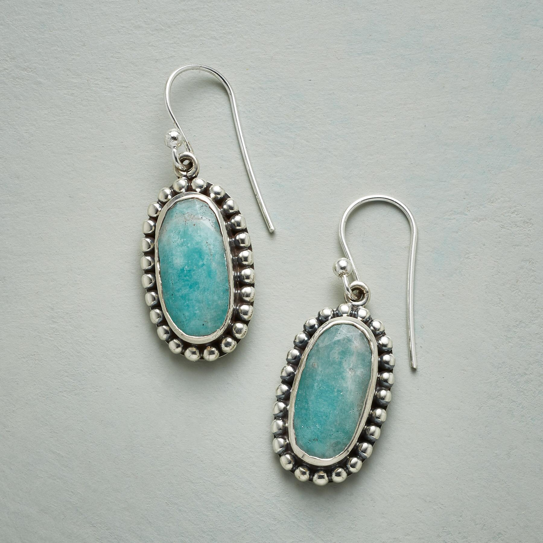 LACEY AMAZONITE EARRINGS: View 1
