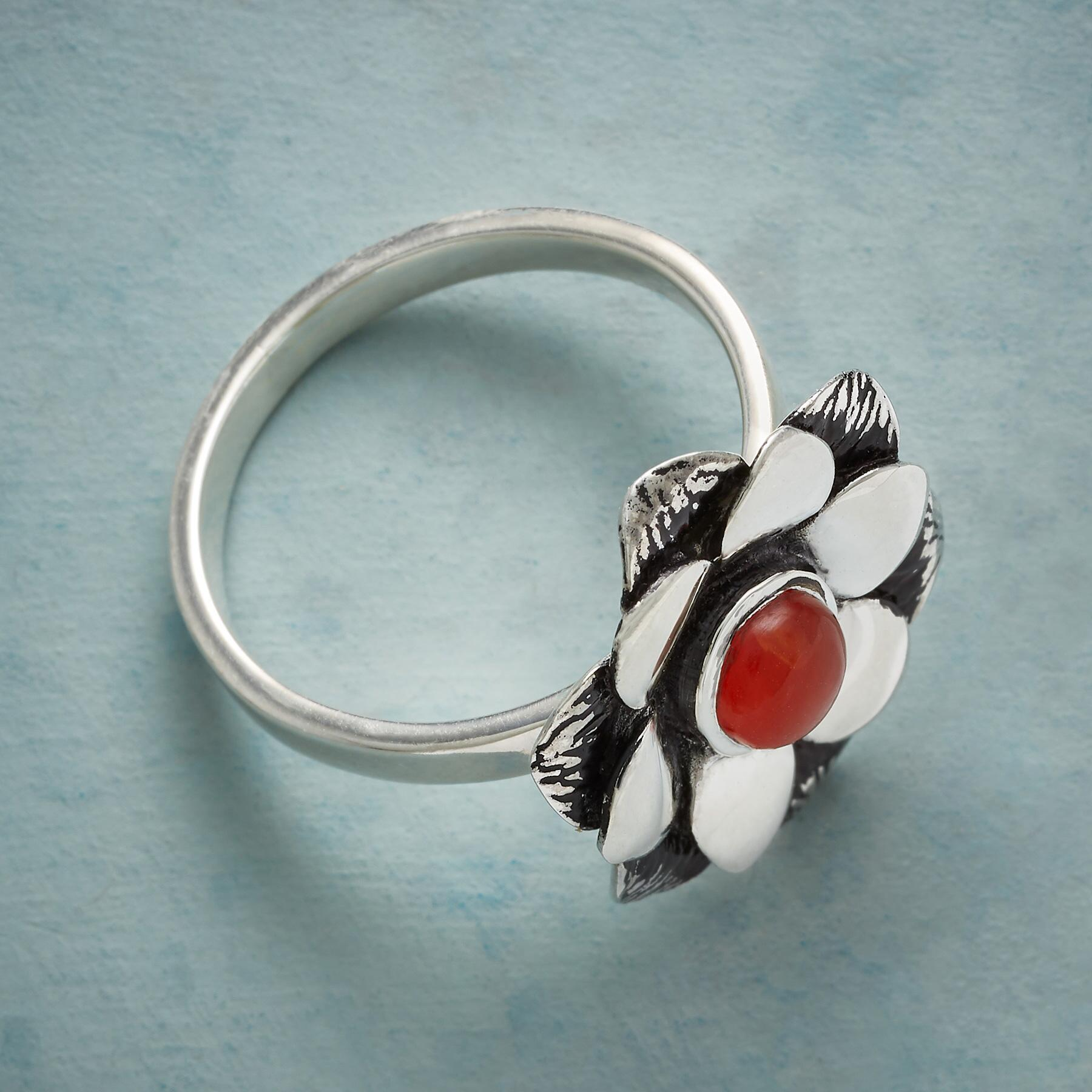 CARNELIAN ZINNIA RING: View 2