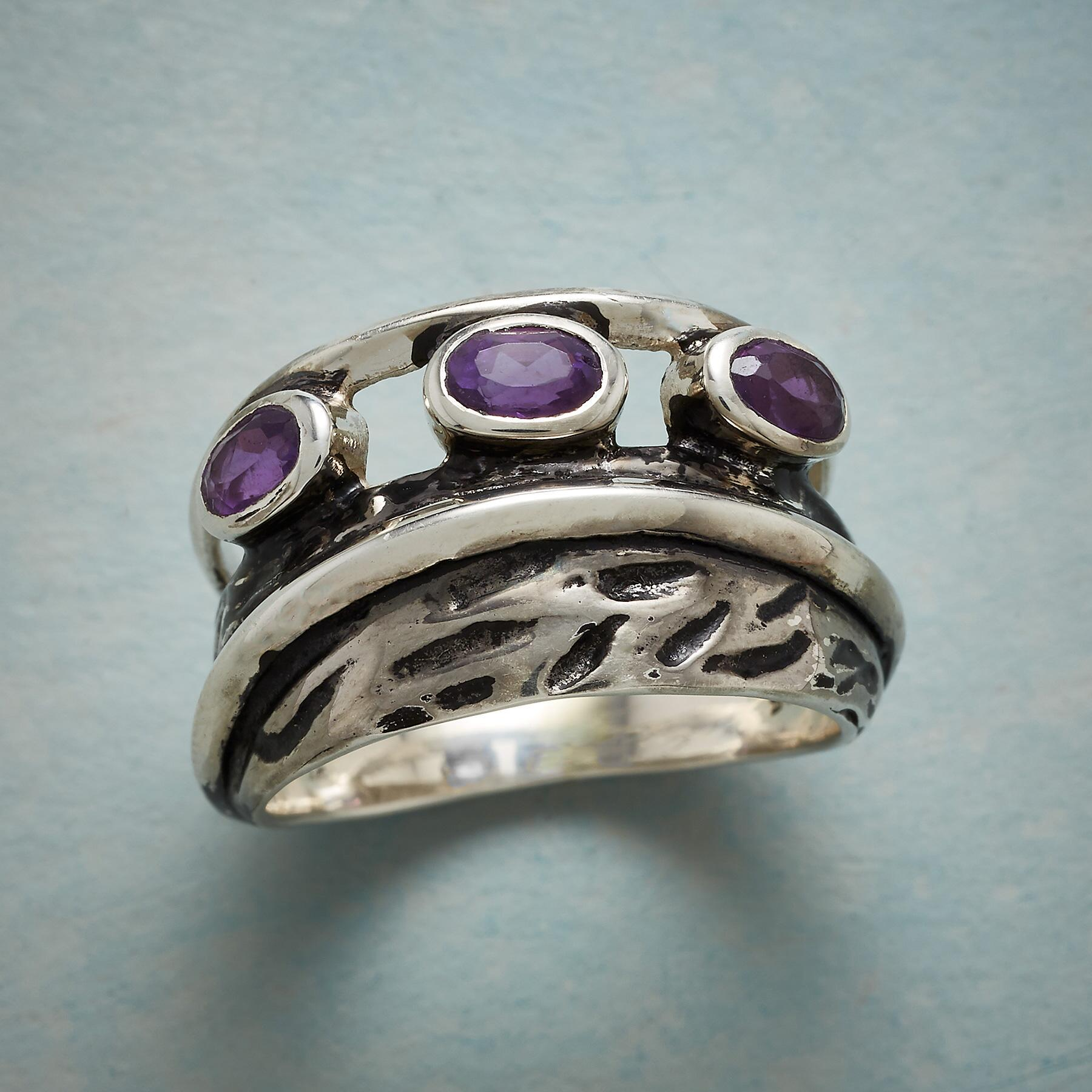 AMETHYST ECHOES RING: View 1