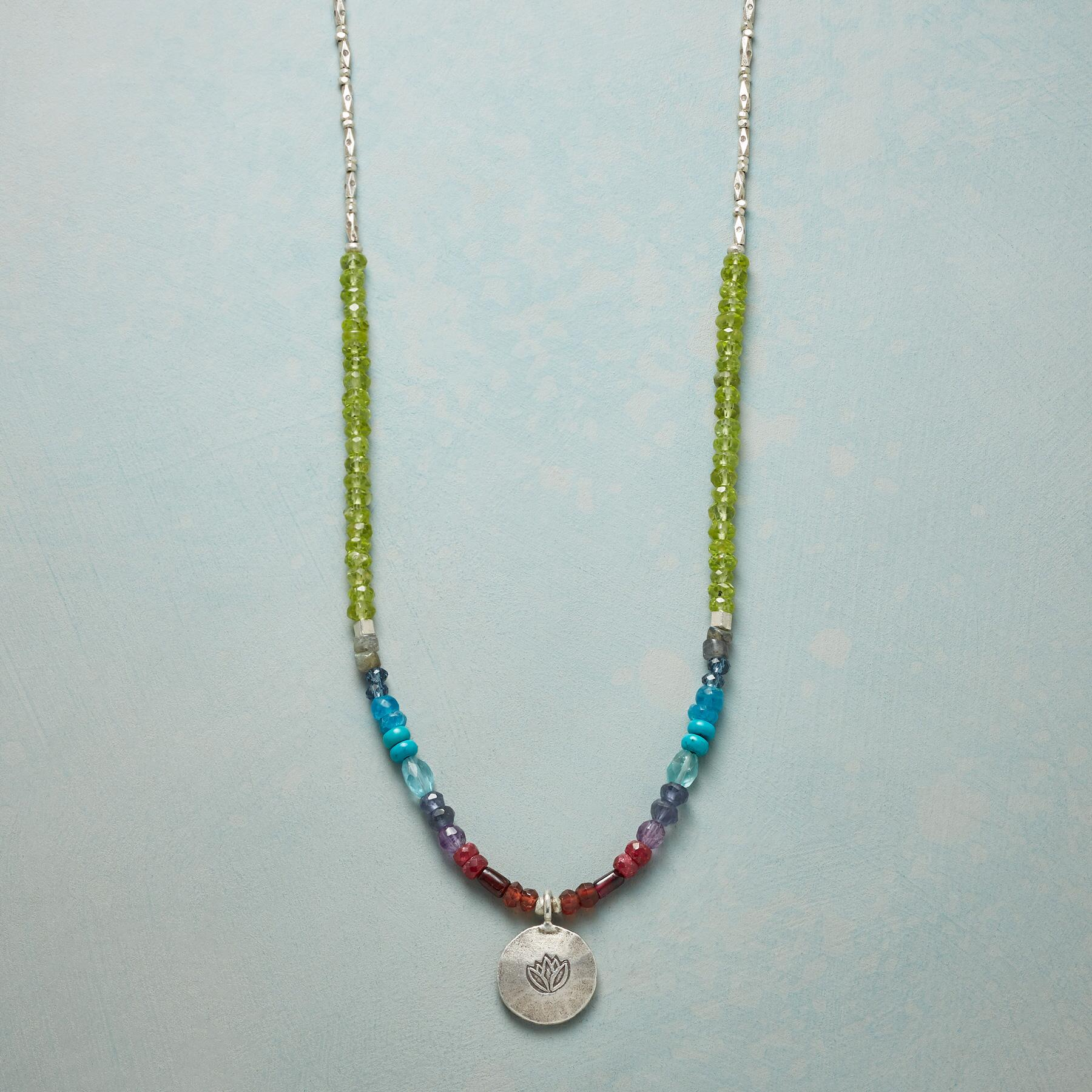 LOTUS RAINBOW NECKLACE: View 1